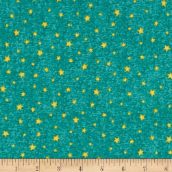Hangin' Out Stars Teal Fabric