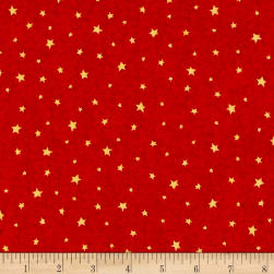 QT Fabrics Hangin' Out Stars Cherry Fabric