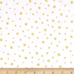 Hangin' Out Stars White Fabric