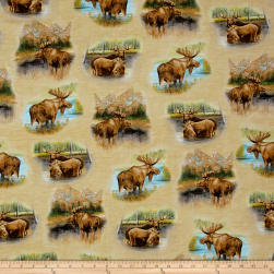By Water's Edge Moose Vignettes Tan