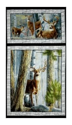 "In The Woods 24"" Panel Gray"