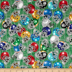 Gridiron Football Helmets Light Green Fabric