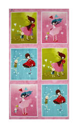 Santoro Gift Of Friendship Girl 23.5'' Panel Multi Fabric