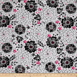 En Vogue Contempo Floral White Fabric