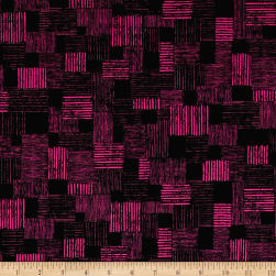 QT Fabrics En Vogue Textured Patch Black/Pink Fabric