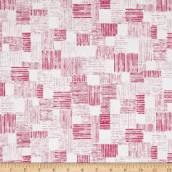 QT Fabrics En Vogue Textured Patch White/Pink Fabric
