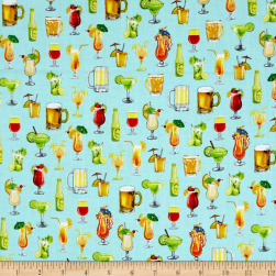 Margaritaville Cocktails Blue Fabric