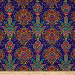 Imperial Paisley Set Paisley Navy Fabric