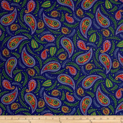 Imperial Paisley Paisley & Ferns Navy Fabric