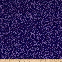 QT Fabrics Imperial Paisley Scroll Navy Fabric