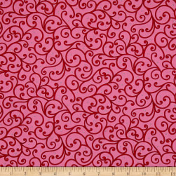 Imperial Paisley Scroll Pink Fabric