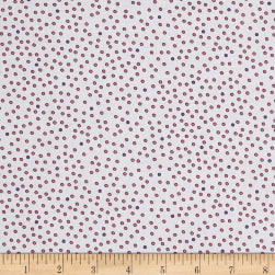 Imperial Paisley Dots White/Pink Fabric