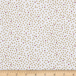 QT Fabrics Imperial Paisley Dots White/Gold