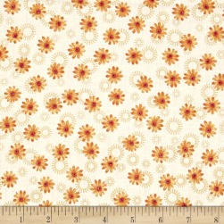 Sophia Daisy Orange Fabric