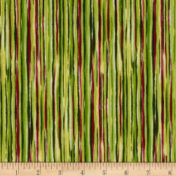 QT Fabrics Sophia Watercolor Stripe Green Fabric