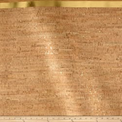EverSewn Cork Fabric 1 Yard Natural with Gold