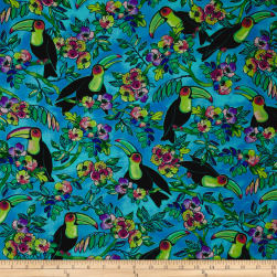 Ink & Arrow Toucan Do It! Toucans & Floral Blue