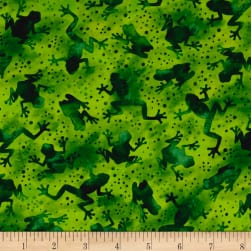 Ink & Arrow Toucan Do It! Frog Silhouettes Green