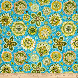 Ink & Arrow Willow Jacobean Floral Blue Fabric