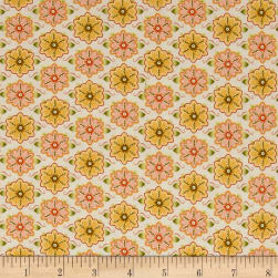 Ink & Arrow Willow Set Flowers Cream Fabric