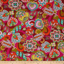 Ink & Arrow Paloma Large Floral Cranberry
