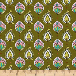 Ink & Arrow Paloma Foulard Dark Olive Fabric
