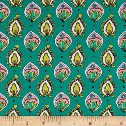 Ink & Arrow Paloma Foulard Dark Jade Fabric
