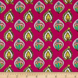 Ink & Arrow Paloma Foulard Fuchsia Fabric