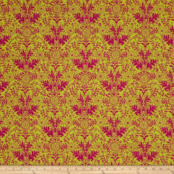 Ink & Arrow Paloma Damask Lime/Fuchsia
