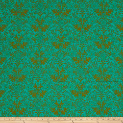 Ink & Arrow Paloma Damask Jade/Olive Fabric