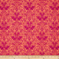 Ink & Arrow Zola Damask Coral/Pink Fabric