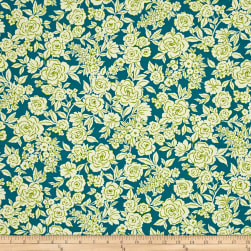 Ink & Arrow Zola Etched Floral Navy Fabric