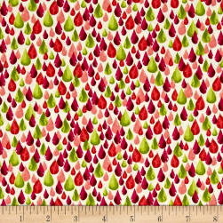 Ink & Arrow Zola Teardrops Coral Fabric