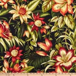 Tommy Bahama Indoor/Outdoor Botanical Glow Ebony Fabric