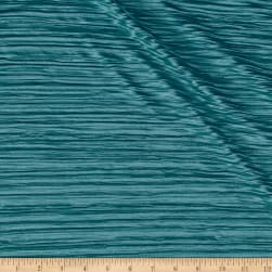 Pleated Bodre Knit Solid Mineral Blue Fabric