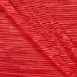 Pleated Bodre Solid Coral Fabric