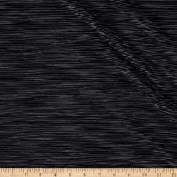 Pleated Bodre Knit Solid Black Fabric