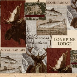 Pine Lodge Jacquard Sand Fabric