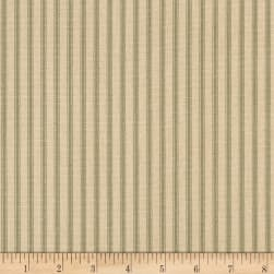 Magnolia Home Fashions Berlin Ticking Stripe Pine Fabric