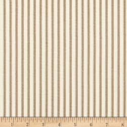 Magnolia Home Fashions Berlin Ticking Stripe Driftwood Fabric