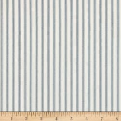 Magnolia Home Fashions Berlin Ticking Stripe Lake Fabric