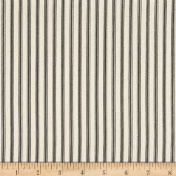 Magnolia Home Fashions Berlin Ticking Stripe Black Fabric