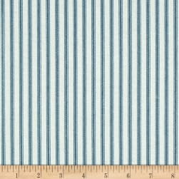 Magnolia Home Fashions Berlin Ticking Stripe Ocean Fabric