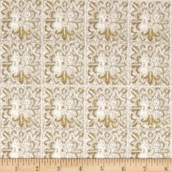 Earthtones 2 Lace Tilt Metallic Natural Fabric
