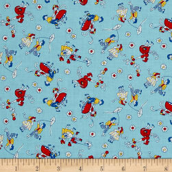 Toy Box Miniatures Kids & Kites Blue Fabric