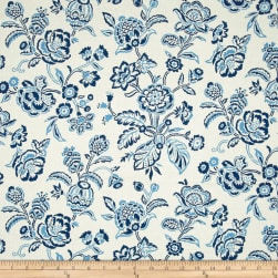 Indigo Influence Indigo Floral Cream Fabric