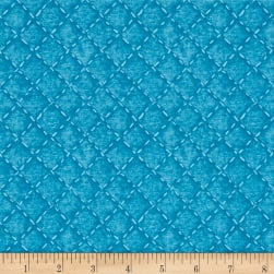 Indigo Influence Cross Stitches Medium Blue Fabric