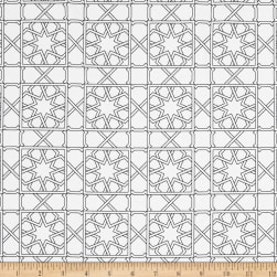 Finespun Tesserae White Fabric