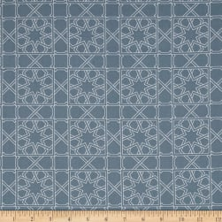Finespun Tesserae Grey Fabric