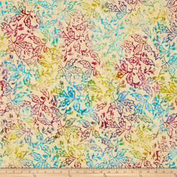 Primo Batiks Must Haves Flower Branch Cream Fabric